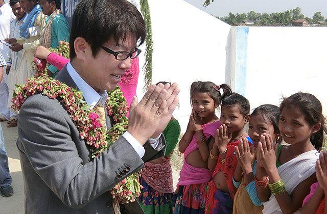 ネパールを訪れる弊社代表